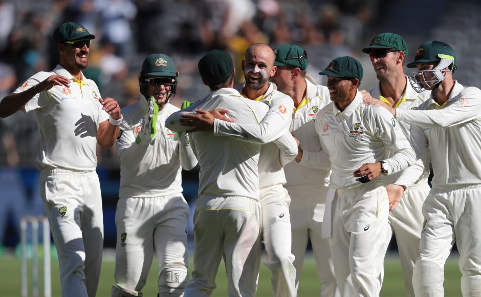 Indian batsmen stutter on day four as Australia move a step closer to serieslevelling win at Perth