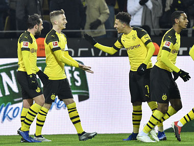 Bundesliga Paco Alcacer Marco Reus on target in Borussia Dortmunds win Bayern Munich slam four past hapless Hannover