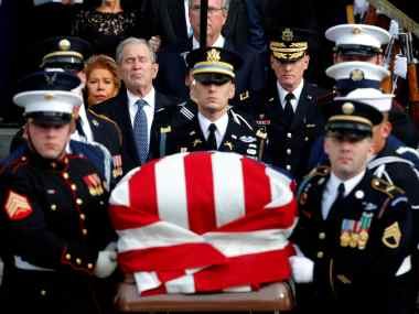 America bids farewell to George HW Bush Son George W Bush calls him brightest of a thousand points of light