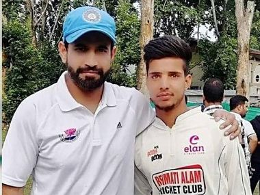 Rasikh (Right) was first spotted by Indian paceman Irfan Pathan at a camp.