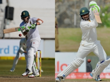 File image of South Africa and Pakistan captains Faf du Plessis (L) and Sarfraz Ahmed respectively. Agencies