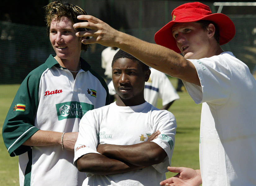 Tatenda Taibu became the youngest captain in the history of Test cricket when he led Zimbabwe against Sri Lanka at Harare in 2004. Reuters