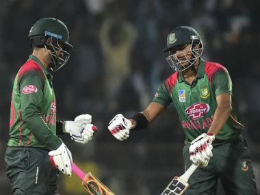 Tamim Iqbal and Soumya Sarkar shared  a match-winning 131-run stand for the second wicket. AFP