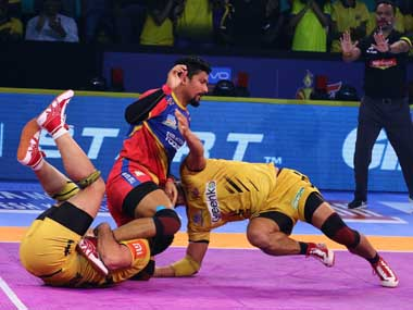 Pro Kabaddi 2018 UP Yoddha defeat hosts Telugu Titans to move off bottomplace in Zone B