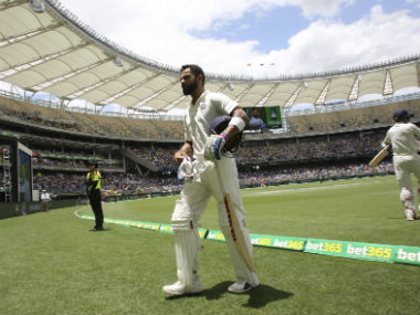 Virat Kohli brought up his 25th Test century on Day 3 of the second Test at Perth. AP