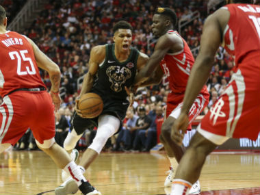 NBA Giannis Antetokounmpo scores 27 points as Bucks down Rockets Nets overcome 19point firsthalf deficit to beat Hawks