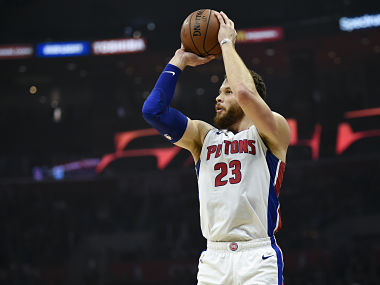NBA Blake Griffin nets 44 points to help Pistons beat former team Clippers Thunder notch comeback win over Spurs