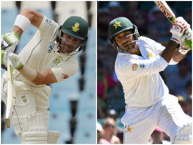 Dean Elgar and Sarfraz Ahmed, captain of South Africa and Pakistan respectively. Agencies