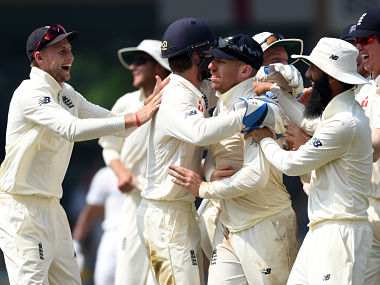 File picture of members of England cricket team. AFP