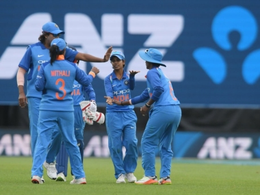 Indian bowlers stifled White Ferns to 161 before Smriti Mandhana and Mithali Raj guided the team home. Image: Twitter @ICC