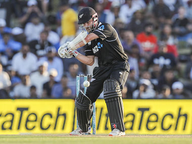 New Zealand's Kane Williamson plays during the second one day international between India and New Zealand at Blake Park in Tauranga, New Zealand, Saturday, Jan. 26, 2019. (AP Photo/John Cowpland)