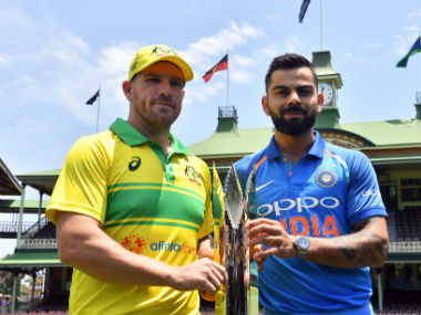 Virat Kohli and Aaron Finch, captain of the Indian and Australian team respectively. AFP