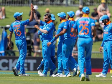Mohammed Shami took three for 19 in the first ODI against New Zealand. Twitter @BCCI