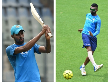 Hardik Pandya (L) and KL Rahul were suspended pending inquiry for sexist comments on TV chat show. AFP