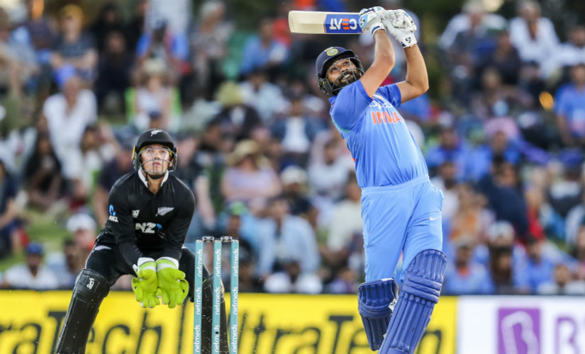 Rohit's big-hitting abilities make him one of the most dreaded limited-overs' batsman of the modern times. AP