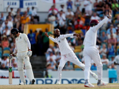 Roston Chase registered career-best figures of 8/60 to dismantle England on Day 4. Reuters