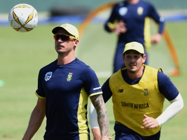 Dale Steyn (L) and Quinton de Kock rested for first ODIs against Pakistan. AFP