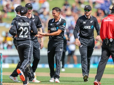 Trent Boult took 5 for 21 to dismiss India for their seventh lowest ODI total of 92. AP