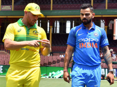 Aaron Finch and Virat Kohli, captain of the Australian and Indian team respectively. AFP