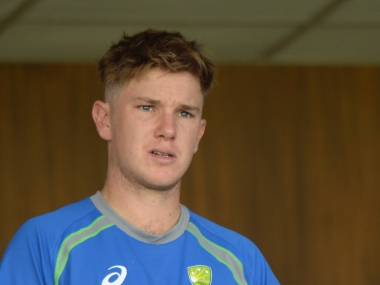 Adam Zampa comes in place of off-spinner Nathan Lyon. AFP