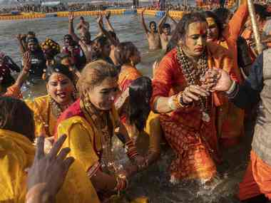 Laxmi Narayan Tripathi claims a place for trans people at Kumbh Mela pushes for recognition of her Kinnar akhara