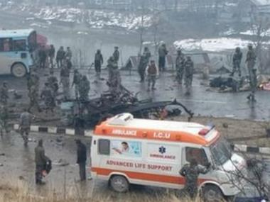 40 CRPF personnel killed in terror attack as explosiveladen vehicle rams into military convoy in Jammu and Kashmirs Pulwama