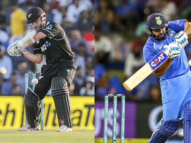File images of New Zealand captain Kane Williamson and India's stand-in captain Rohit Sharma. Agencies