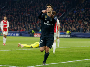 Champions League Real Madrid ride on late winner from Marco Asensio to beat Ajax as VAR decision clouds first leg