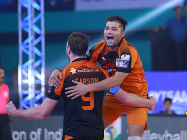 Pro Volleyball League 2019 Black Hawks Hyderabad come back from behind twice to beat U Mumba in thriller
