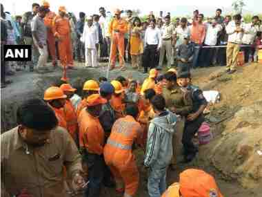 Sixyearold boy rescued from 200feetdeep borewell after 16hour rescue operation in Pune