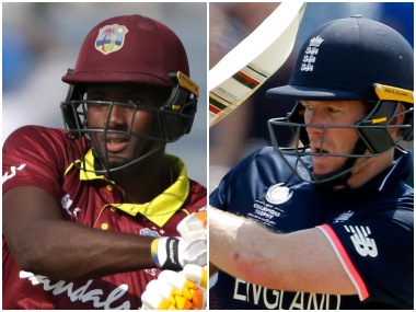 Jason Holder and Eoin Morgan, captain of West Indies and England respectively. Agencies