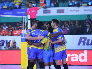 Pro Volleyball League Kochi Blue Spikers beat U Mumba Volley 41 in opening match of newlylaunched league