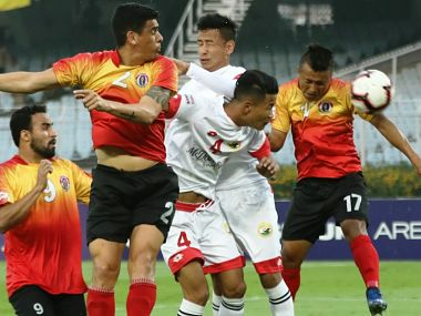 ILeague 201819 Laldanmawia Raltes hattrick powers East Bengal to 50 thumping of Shillong Lajong