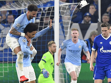 Champions League Leroy Sane sorry for stunning freekick against former love Schalke in Manchester Citys win