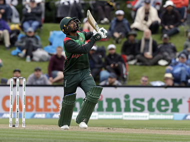 Bangladesh opener Liton Das plays a poor shot and gets out during the 2nd ODI against New Zealand. AP