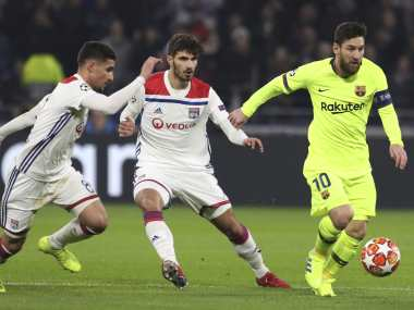 Champions League Lyon frustrate wasteful Barcelona to earn a goalless draw in first leg of last16 clash