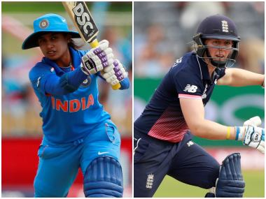 File image of India captain Mithali Raj and England leader Heather Knight. Reuters