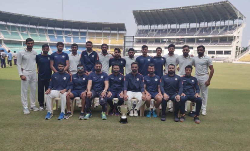 Saurashtra finished as the runner's up for the third in seven years in Ranji Trophy. Image courtesy: Twitter @saucricket