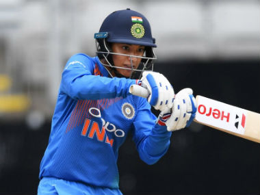 File image of Smriti Mandhana. Image credit: Twitter/@WHITE_FERNS