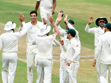 The Proteas are now well-placed to go 1-0 up in the Test series. image credit: Twitter/@OfficialCSA