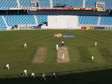 Passage of a Test match played in front of empty stands. Reuters