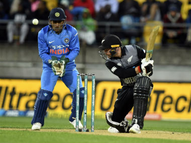 Tim Seifert top-scored for New Zealand in the 1st T20I against India, smashing a 43-ball 84. AP