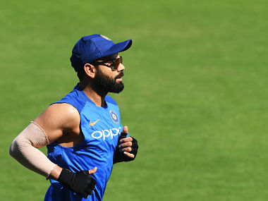 Indian cricket team's captain Virat Kohli attends a training session at the Dr. Y.S. Rajasekhara Reddy ACA–VDCA Cricket Stadium in Visakhapatnam on February 23, 2019. - India will be playing against Australia in their first Twenty20 international series cricket match on February 24. (Photo by Dibyangshu SARKAR / AFP)