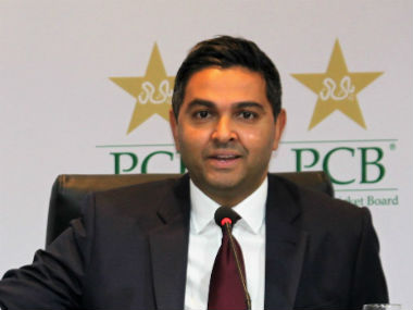 File image of PCB CEO Wasim Khan. Image credit: Twitter/@TheRealPCB