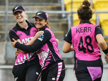 The White Ferns lead the series 1-0 after their 23-run win at Wellington. Image credit: Twitter/@WHITE_FERNS