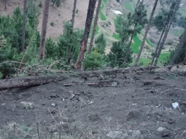 The Balakot site where Indian military aircraft dropped their payload on Tuesday. Twitter @OfficialDGISPR