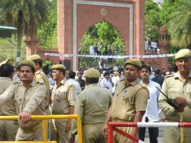 14 AMU students charged with sedition for assaulting BJP youth wing members during Asaduddin Owaisis visit