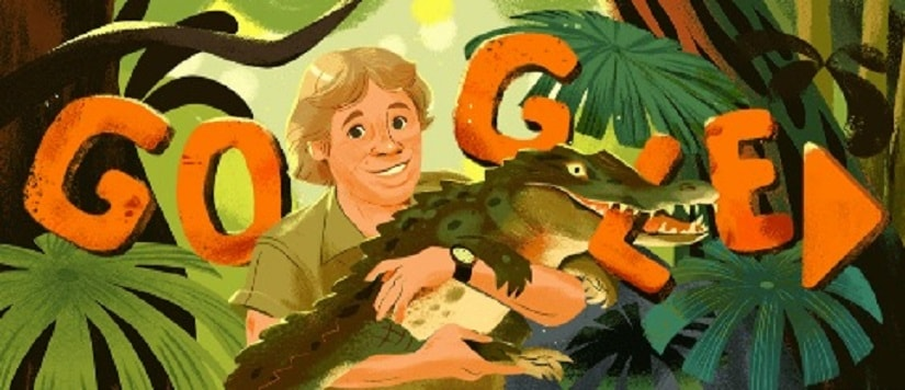 Steve Irwin Google Doodle marks Crocodile Hunter conservationists 57th birthday