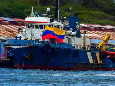 Venezuela aid boat docks at Curacao in the Caribbean after navy blocks cargo from reaching crisishit country