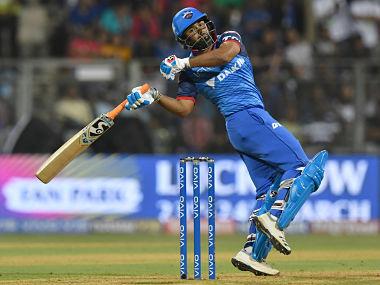 Delhi Capitals' Rishabh Pant plays a shot during their Indian Premier League match against Mumbai Indians. AFP